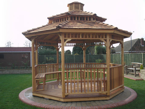 two tier octagon gazebo with cupola
