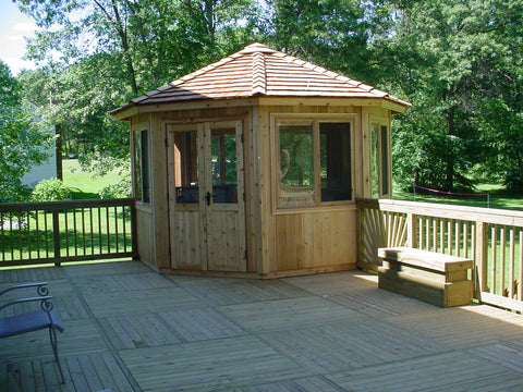 octagon gazebo on deck