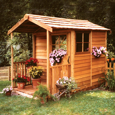 Cedarshed canada cedar shed kits best gazebo kit for Small outdoor sheds for sale