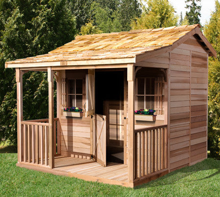 Prefab bunkhouse cabins kids bunkhouse kits cedarshed for Prefab portico kits