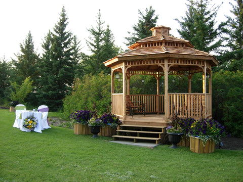 octagon wedding gazebo