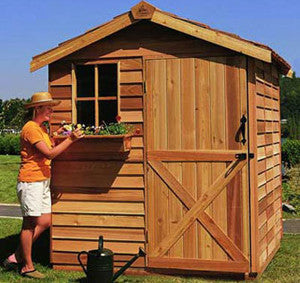 cedar Gardener Shed Kit with window box