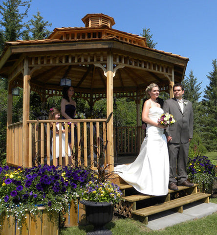hexagon wedding gazebo