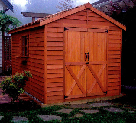 cedarshed rancher side double doors