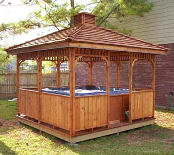 square hot tub gazebo