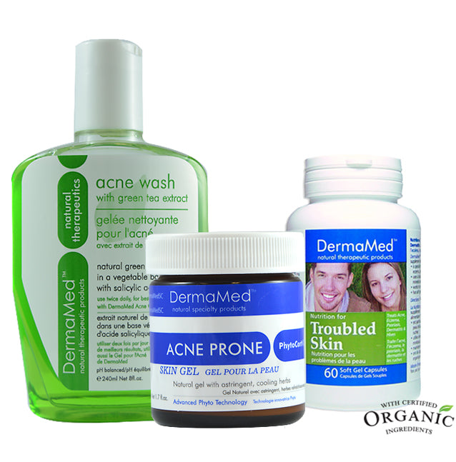 **BACK TO SCHOOL SPECIAL** Acne Combo with Troubled Skin Supplement