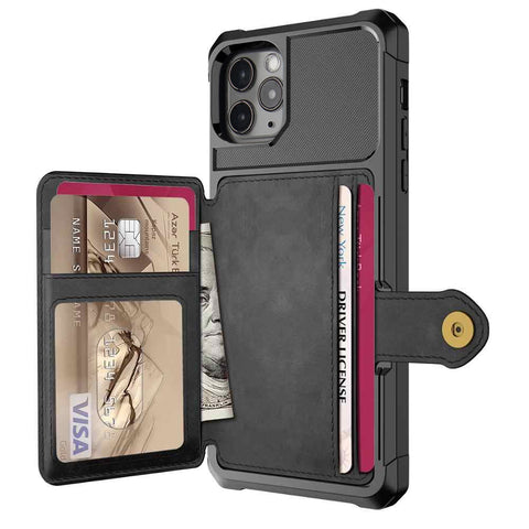 Flip Wallet Case for iPhone 12 Pro Max - Black