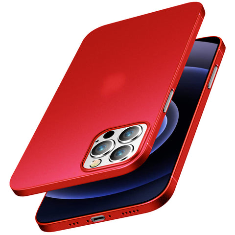 Ultra Thin case for iPhone 12 / 12 Pro - Red