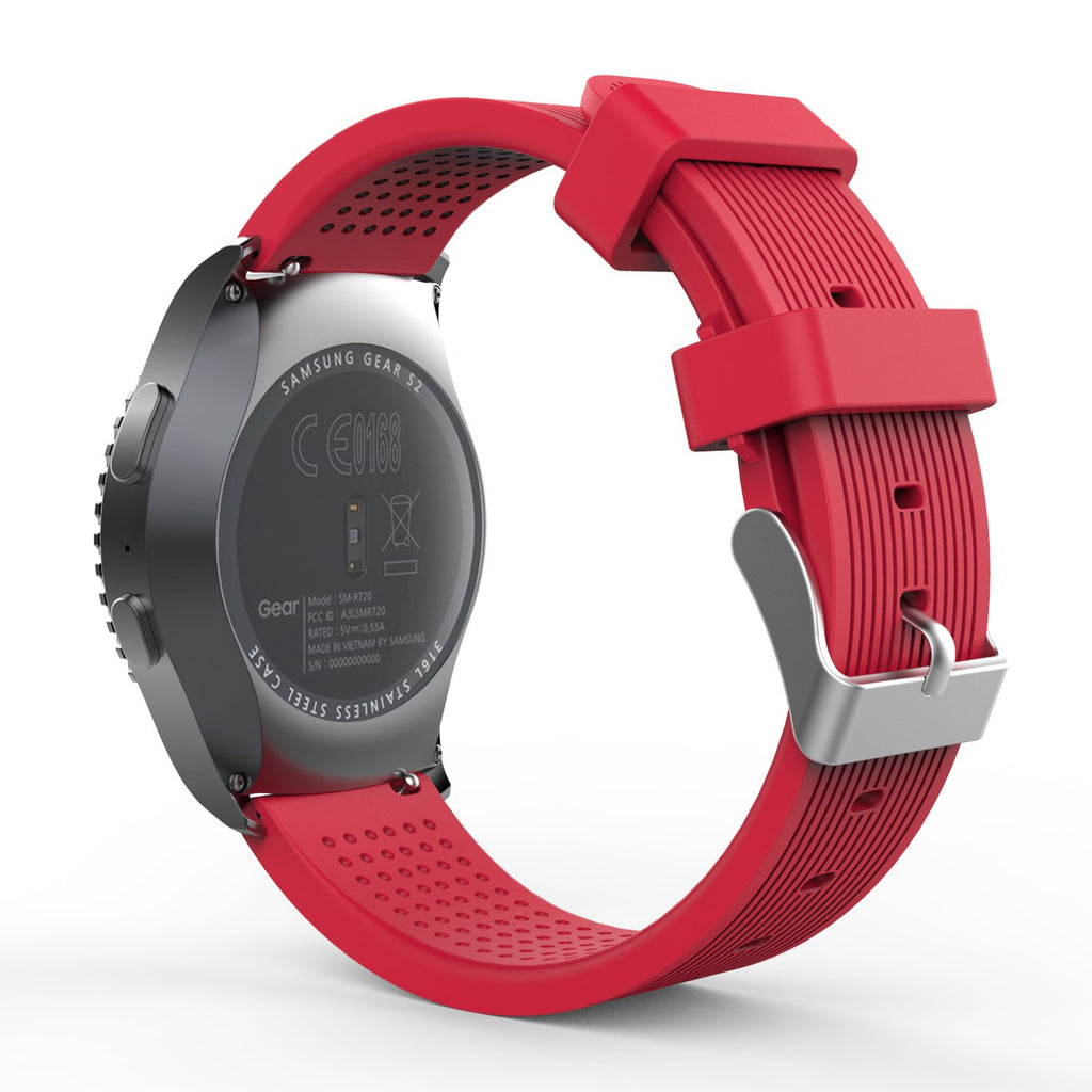 Rubber Strap for Galaxy Watch 20mm - Red - screenhug