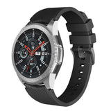 Rubber Strap for Galaxy Watch Strap 22mm - Black - screenhug