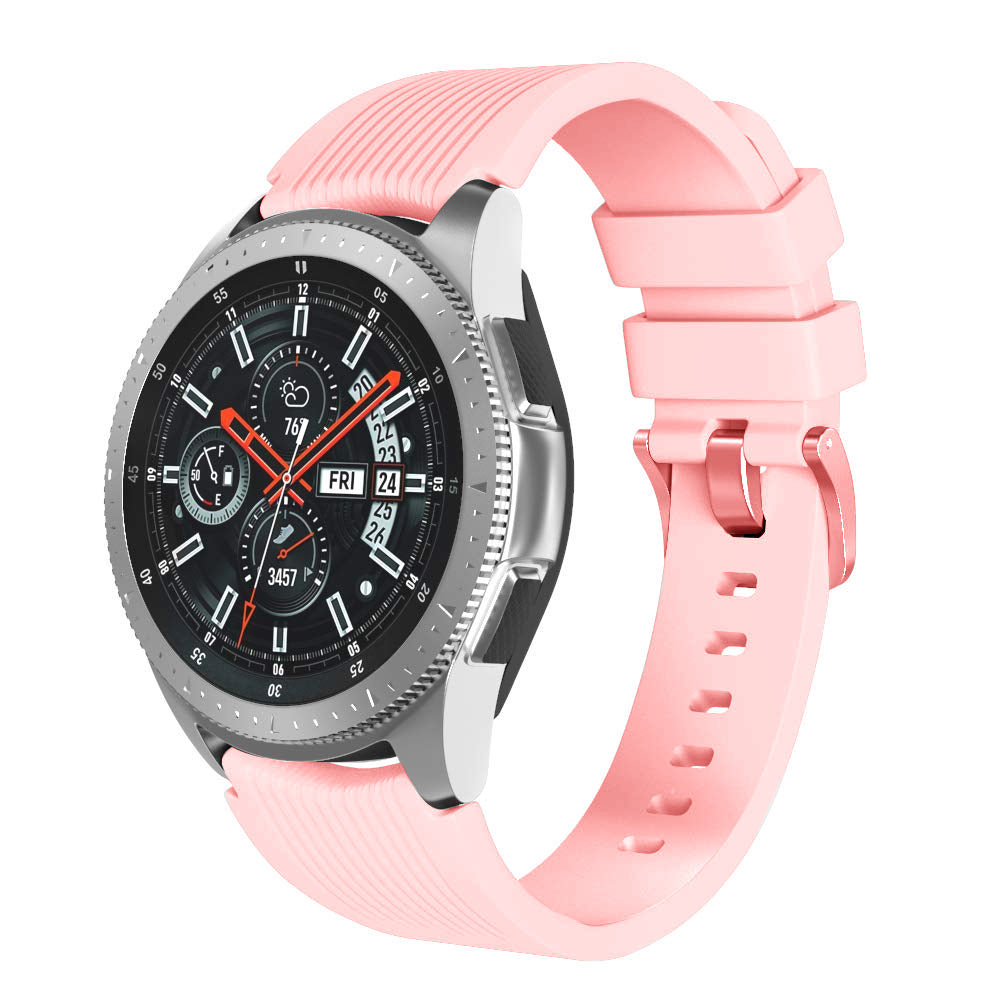 Rubber Strap for Galaxy Watch Strap 22mm - Pink - screenhug