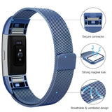 Milanese Metal Strap for Fitbit Charge 2 - Blue - screenhug