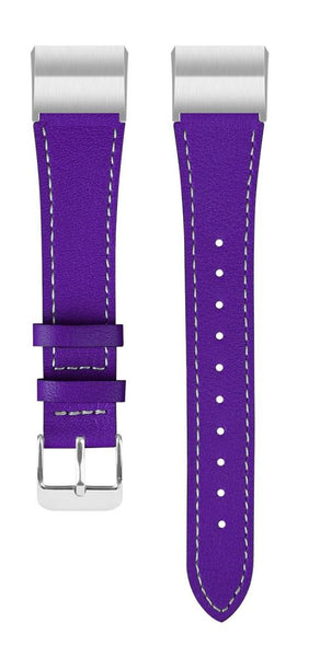 Leather Band for Fitbit Charge 2 - Purple - screenhug