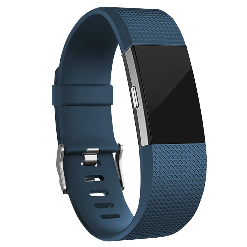 Rubber Strap for Fitbit Charge 2 - Blue - screenhug