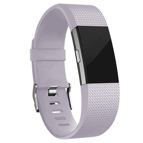 Rubber Strap for Fitbit Charge 2 - Purple