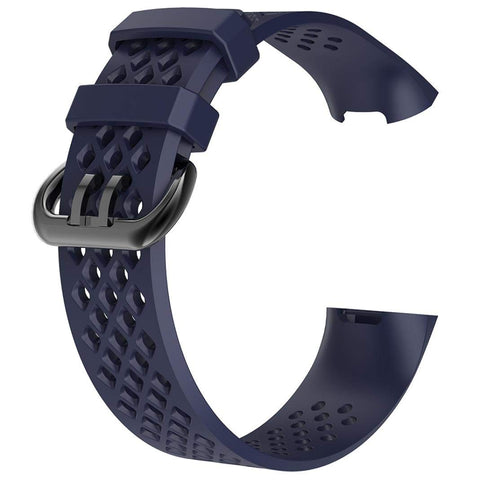 Rubber Strap for Fitbit Charge 3 / 4 - Navy