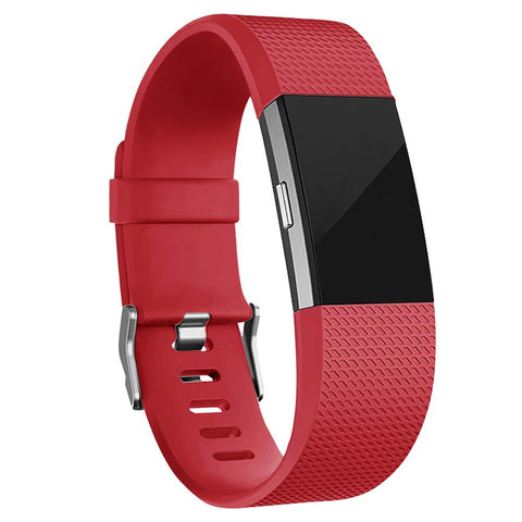 Rubber Strap for Fitbit Charge 2 - Red