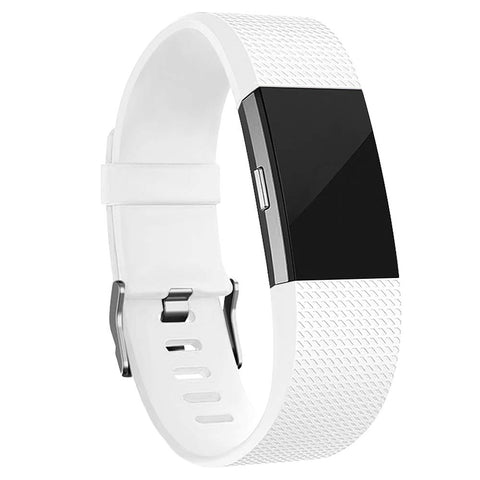 Rubber Strap for Fitbit Charge 2 - White