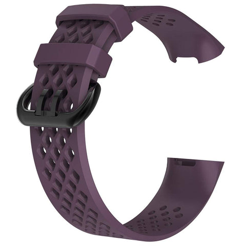 Rubber Strap for Fitbit Charge 3 / 4 - Purple