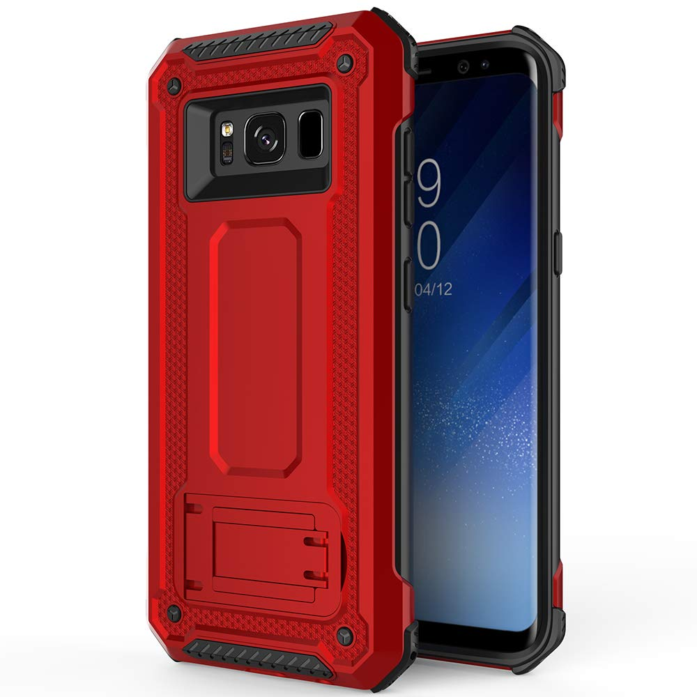 Tough Stand Case for Samsung Galaxy S8 - Red - screenhug