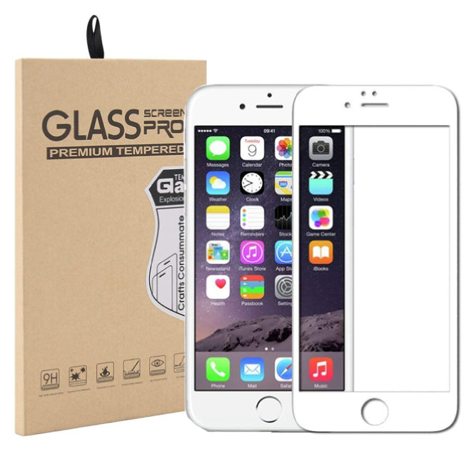 iPhone 6/6S Curved Glass Screen Protector - White - screenhug