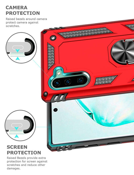 Tough Stand Case for Samsung Galaxy Note 10 - Red - screenhug