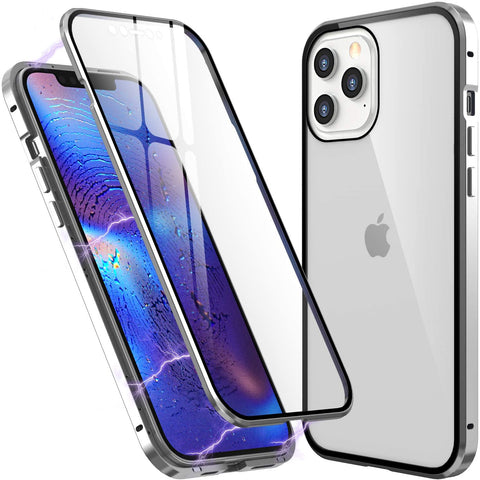 Metal Mag Glass case for iPhone 12 / 12 Pro - Silver