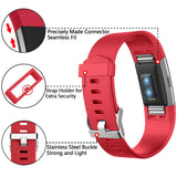 Rubber Strap for Fitbit Charge 2 - Red - screenhug