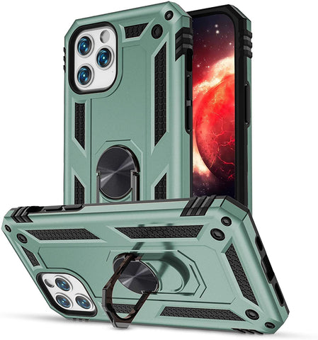 Tough Ring case for iPhone 12 Pro Max - Green