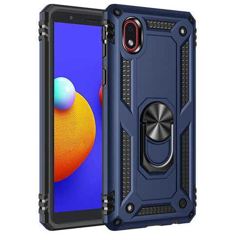 Tough Ring Stand Case for Samsung Galaxy A01 Core - Blue