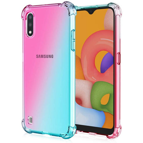 Gradient Gel case for Samsung Galaxy A01 - Pink / Light Blue