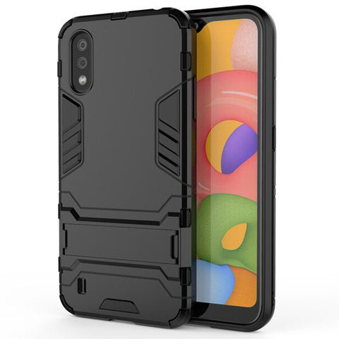 Tough Kickstand case for Samsung Galaxy A01 - Black