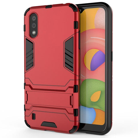 Tough Kickstand case for Samsung Galaxy A01 - Red