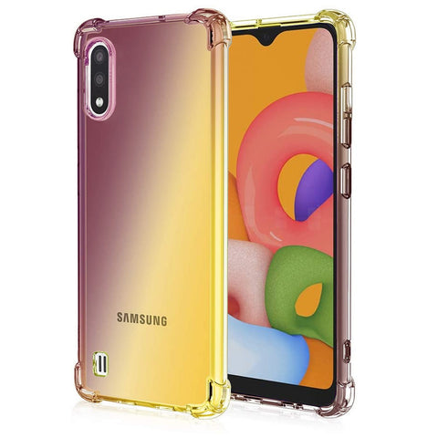 Gradient Gel case for Samsung Galaxy A01 - Purple / Yellow
