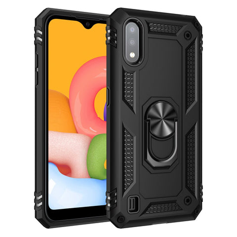 Tough Ring case for Samsung Galaxy A01 - Black