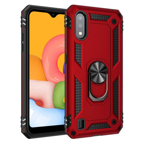 Tough Ring case for Samsung Galaxy A01 - Red