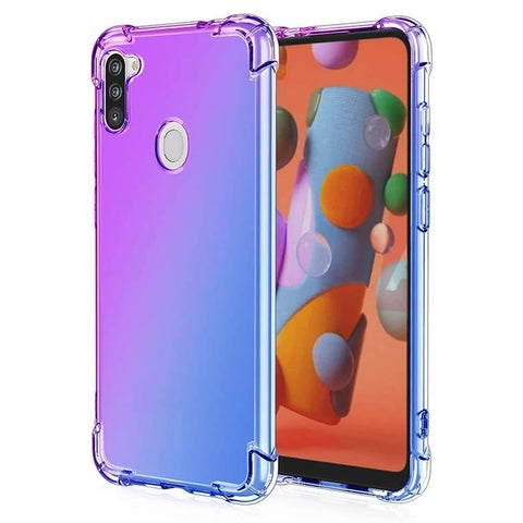Gradient Gel case for Samsung Galaxy A11 - Purple / Blue