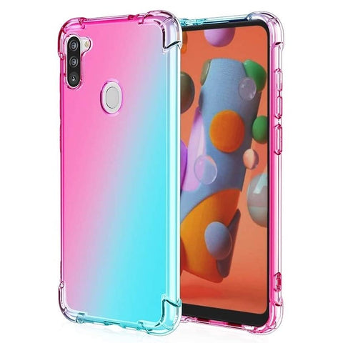 Gradient Gel case for Samsung Galaxy A11 - Pink / Blue