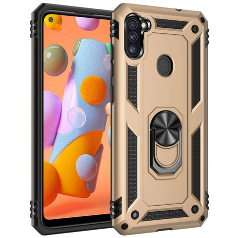 Tough Ring case for Samsung Galaxy A11 - Gold