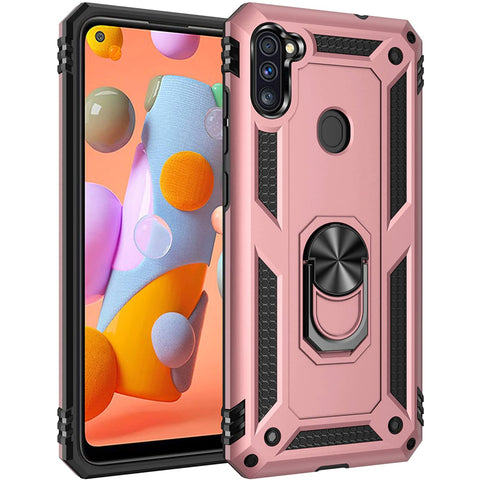 Tough Ring case for Samsung Galaxy A11 - Rose
