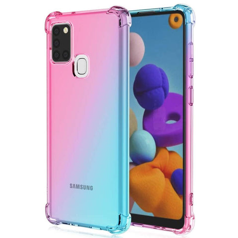 Gradient Gel case for Samsung Galaxy A21s - Pink / Blue