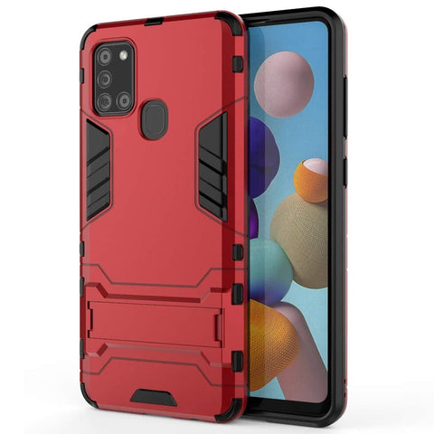 Tough Kickstand case for Samsung Galaxy A21s - Red