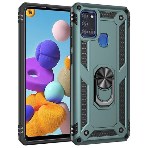 Tough Ring case for Samsung Galaxy A21S - Green