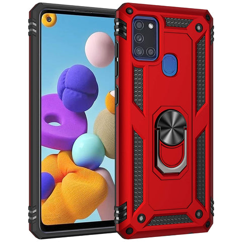 Tough Ring case for Samsung Galaxy A21S - Red