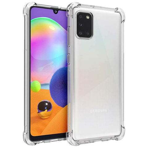 Tough Gel case for Samsung Galaxy A31 - Clear