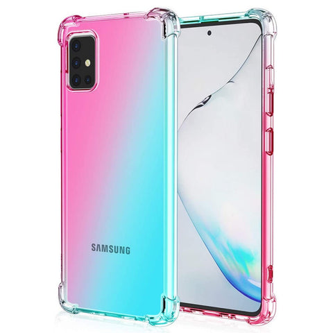 Gradient Gel case for Samsung Galaxy A31 - Pink / Light Blue