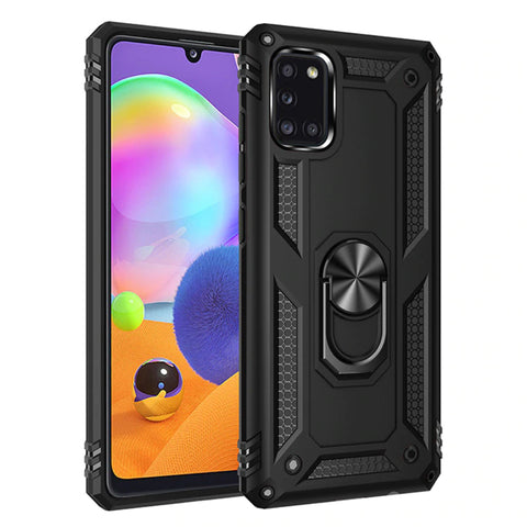 Tough Ring case for Samsung Galaxy A31 - Black