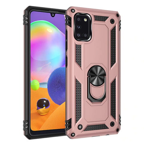Tough Ring case for Samsung Galaxy A31 - Rose