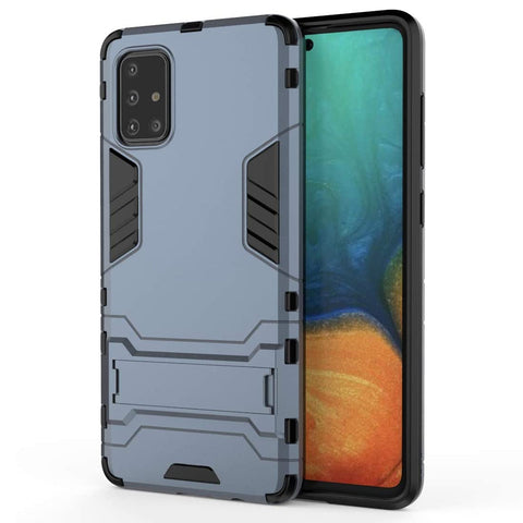 Tough Kickstand case for Samsung Galaxy A71 - Blue