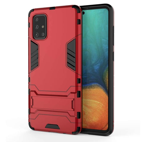Tough Kickstand case for Samsung Galaxy A71 - Red